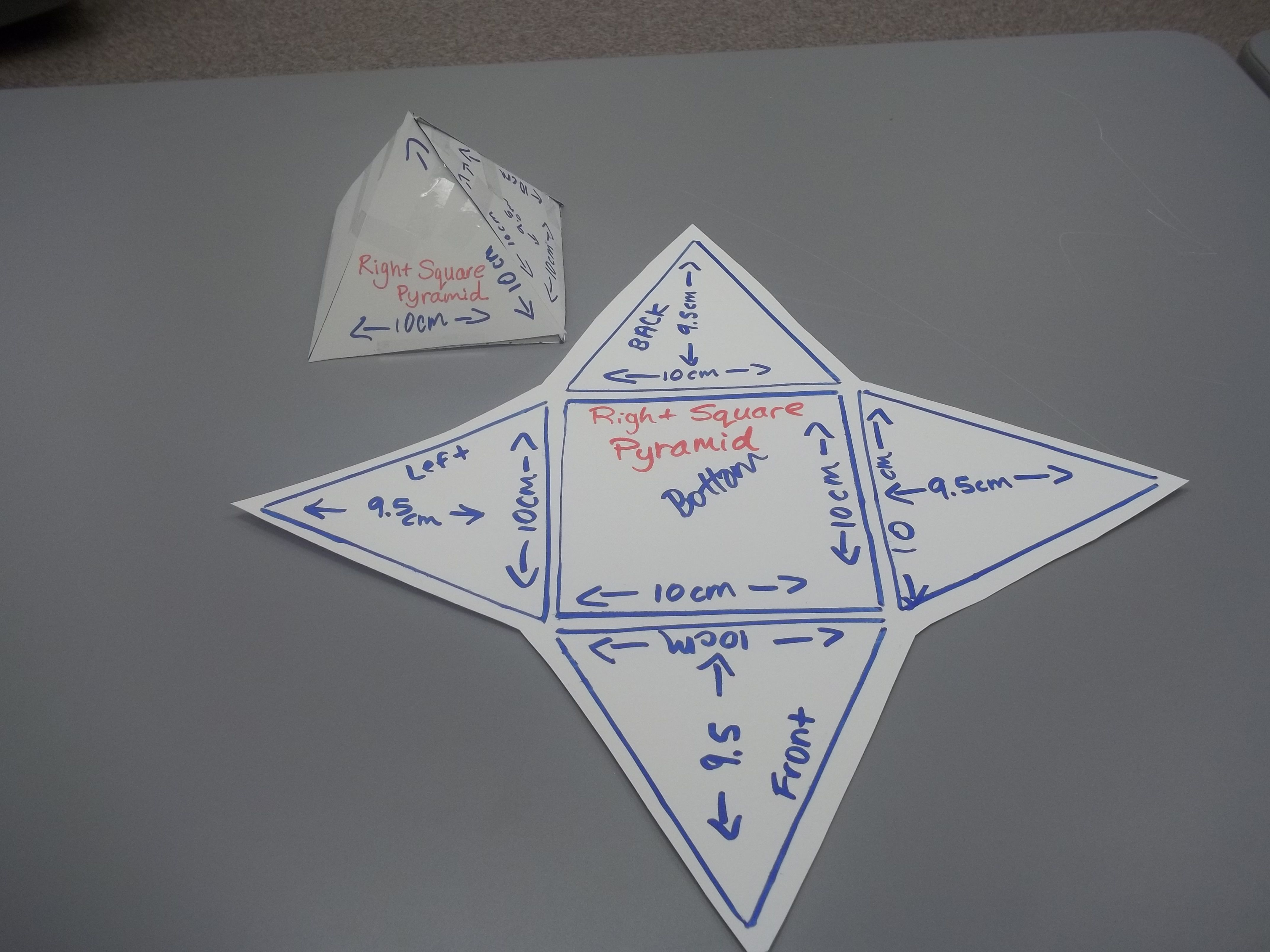 Surface Area Of Square Pyramid Using