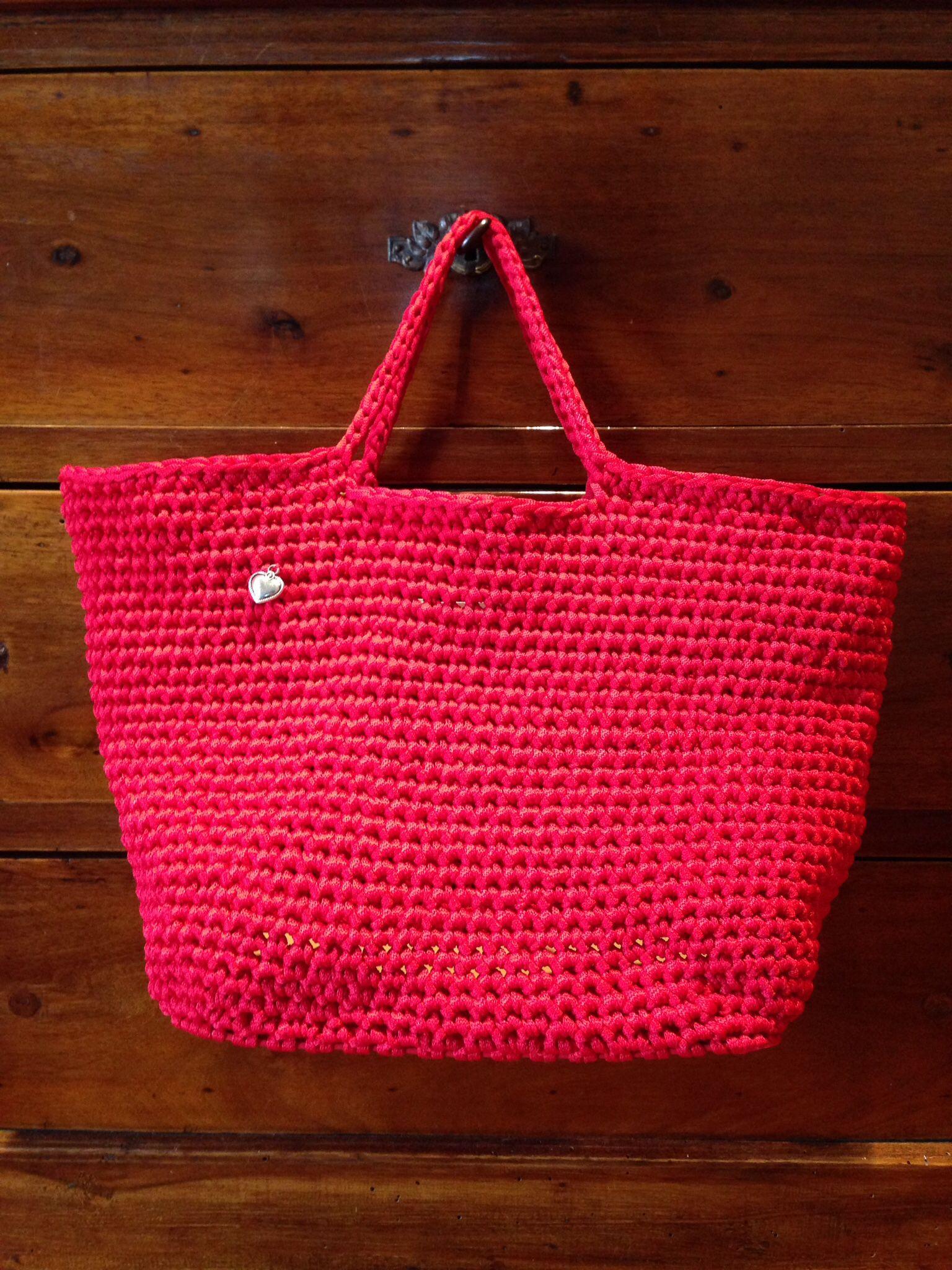 Red...❤️❤️❤️❤️❤️ borsa in fettuccia piatta....