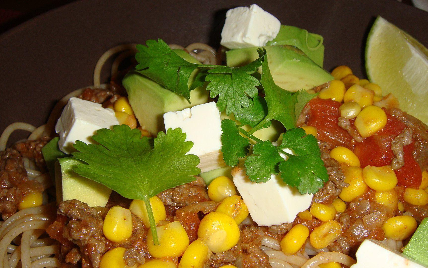 Mexican Taco-Bowl Spaghetti