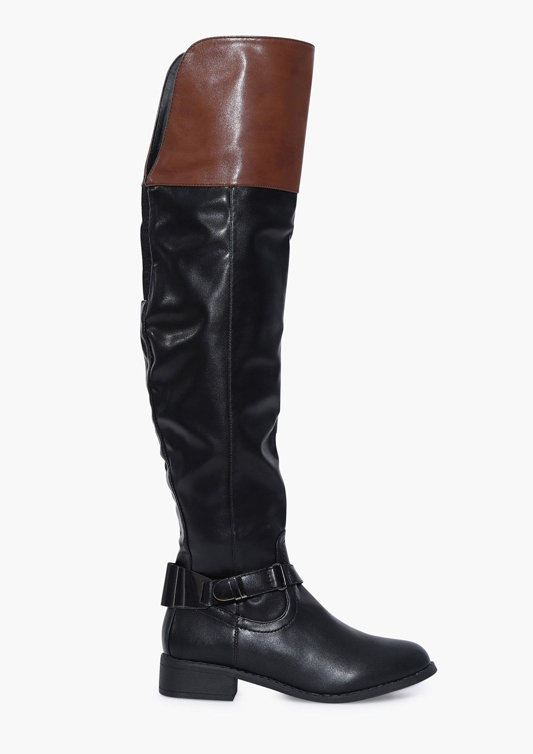 Ralph Knee High Boots in Black