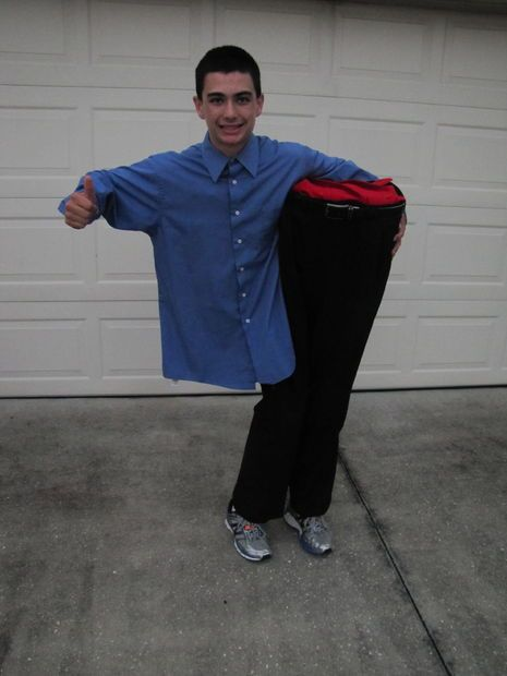 Man Cut in Half Costume My boys, Pictures of and Boys - different halloween costume ideas