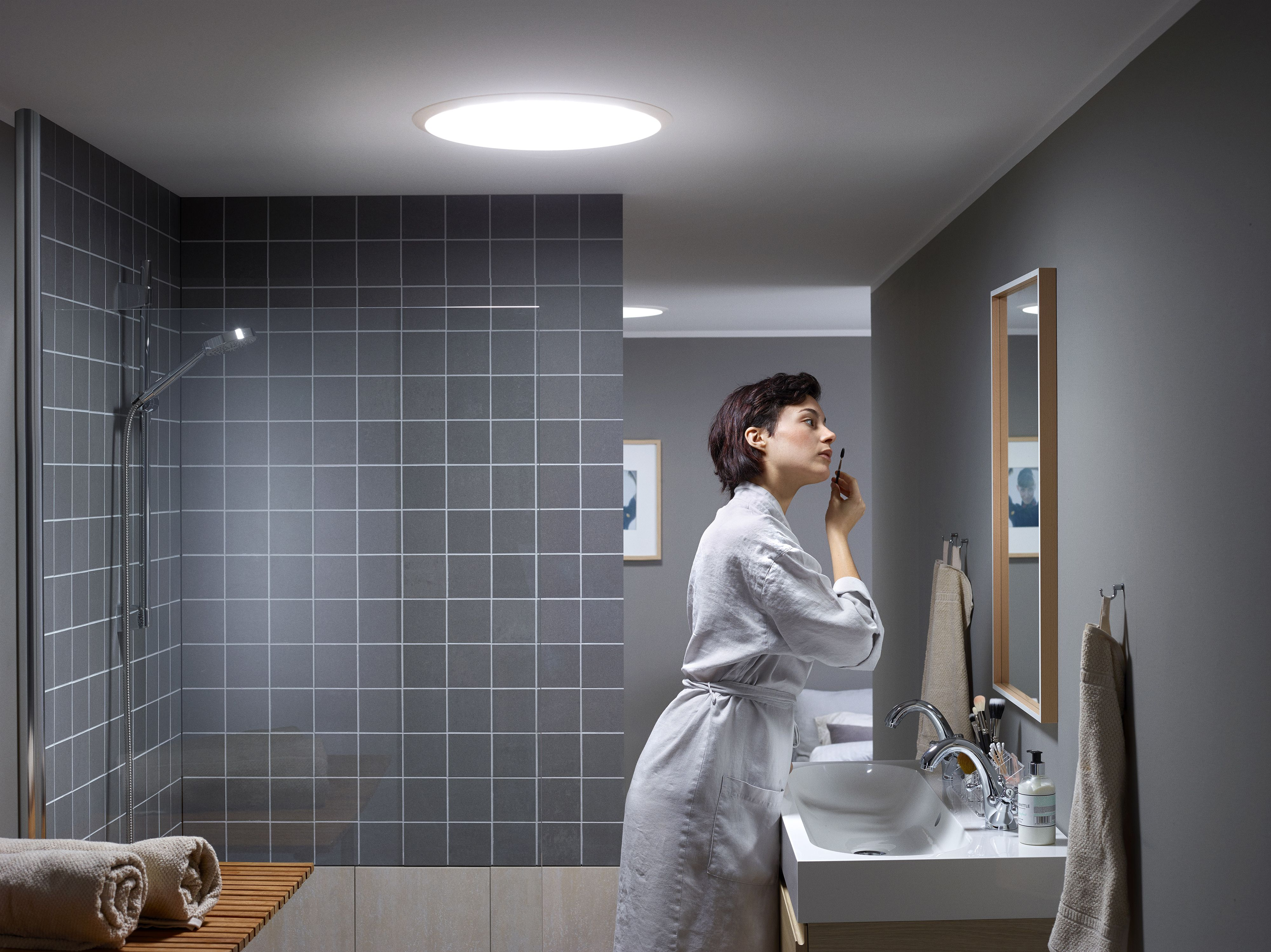 White Bathroom No Windows no window in your bathroom? get natural #daylight floating into