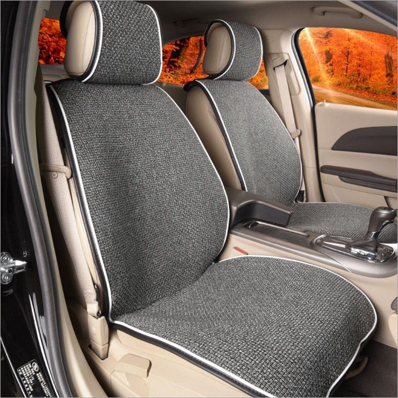 AUTOYOUTH Auto Car Front Seat Covers Bucket Seat Cover Seat Protectors Universal Fit Seat Covers for Sedan Truck SUV-Gray