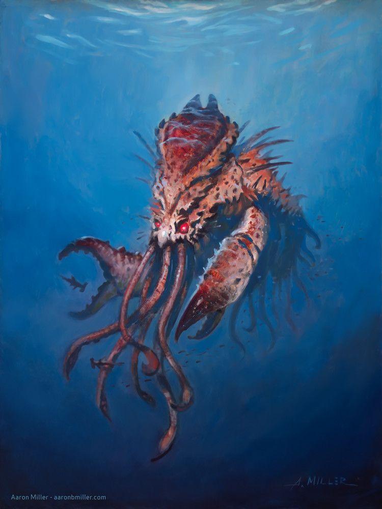 Kraken, Aaron Miller on ArtStation at https://www.artstation.com/artwork/qwbaP