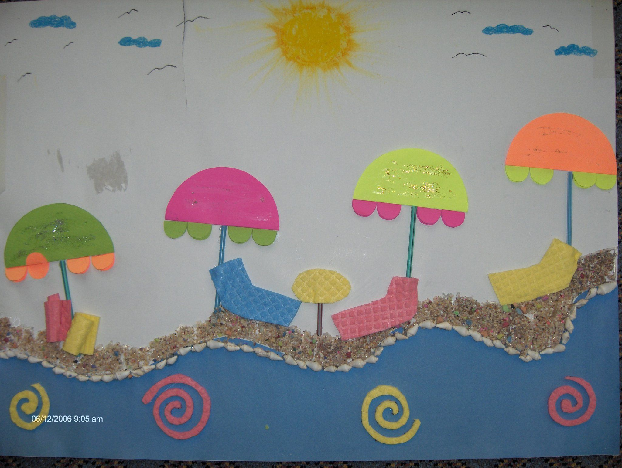 Beach Craft Ideas For Kids Part - 25: Beach Craft Idea Crafts And Worksheets For Preschooltoddler And Beach Craft  Idea Crafts And Worksheets For