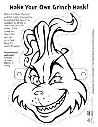 Our Free Printable Activities For The Grinch Who Stole Christmas Include Two Word Searches A Mask Connect Dots Coloring Page