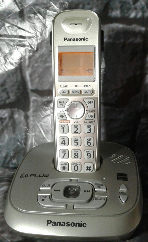 b46eae45ad53 PANASONIC KX-TG4021 CORDLESS BASE Answering System PHONE with KX-TGA402  HANDSET #Panasonic