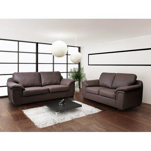 Best Amy 2 Piece Sofa Set Bel Étage Colour Brown Living Room Sets Sofa Set Leather Sofa Set 640 x 480