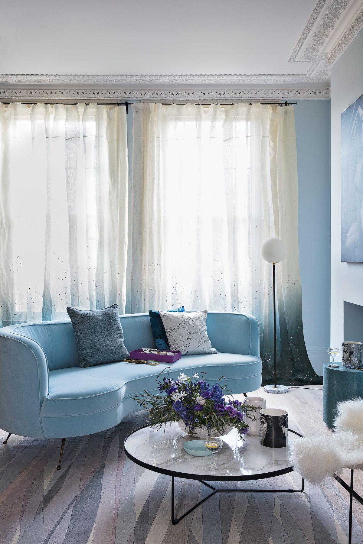 Colour Stories Ciel Blue Blue Sofas Living Room Blue Sofa Living Blue Living Room Decor