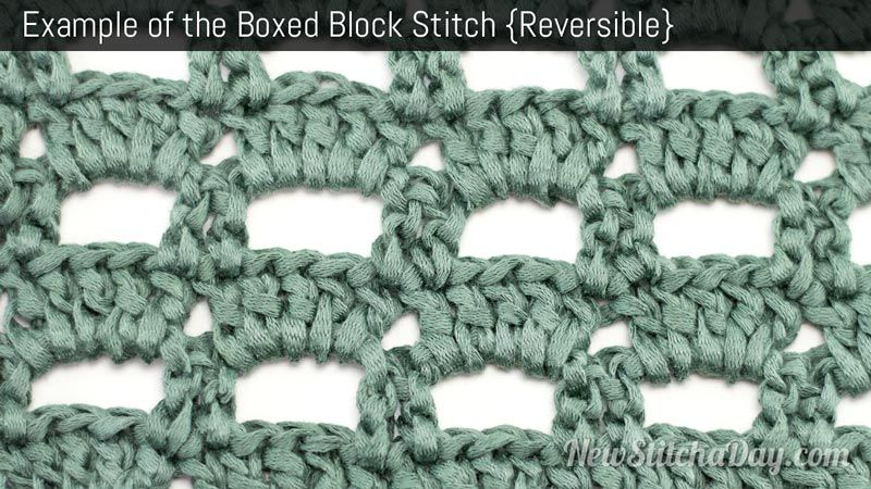 Example Of The Boxed Block Stitch Reversible Squares