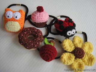 geat idea for kids :) crochet pony hair tie :)