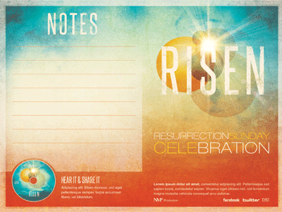 Risen Church Bulletin Template | Church graphic design ...