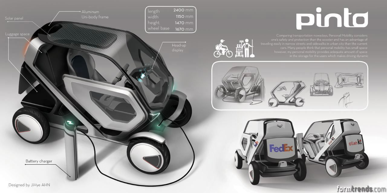 Hong Ik University Students Envision The Future Of Personal Mobility Bmw I1 Is An Electric Singleseater Trikecar Concept By Designer Form Trends