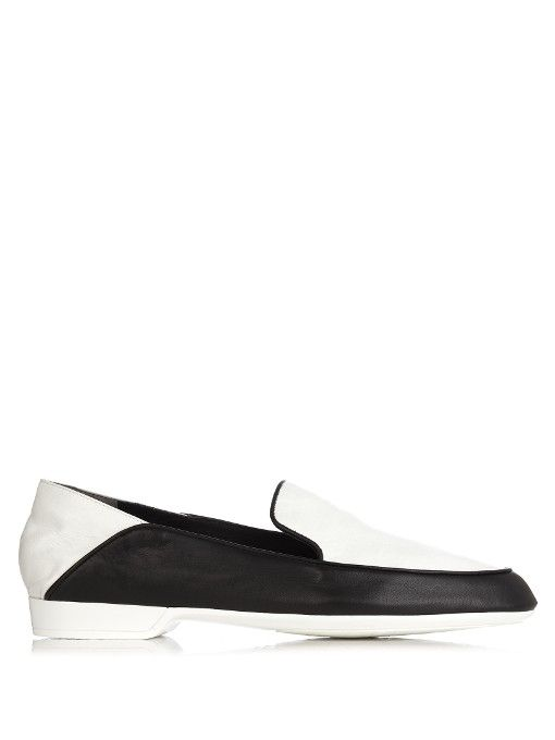 ROBERT CLERGERIE Fani Collapsible-Heel Leather Loafer. #robertclergerie #shoes #flats