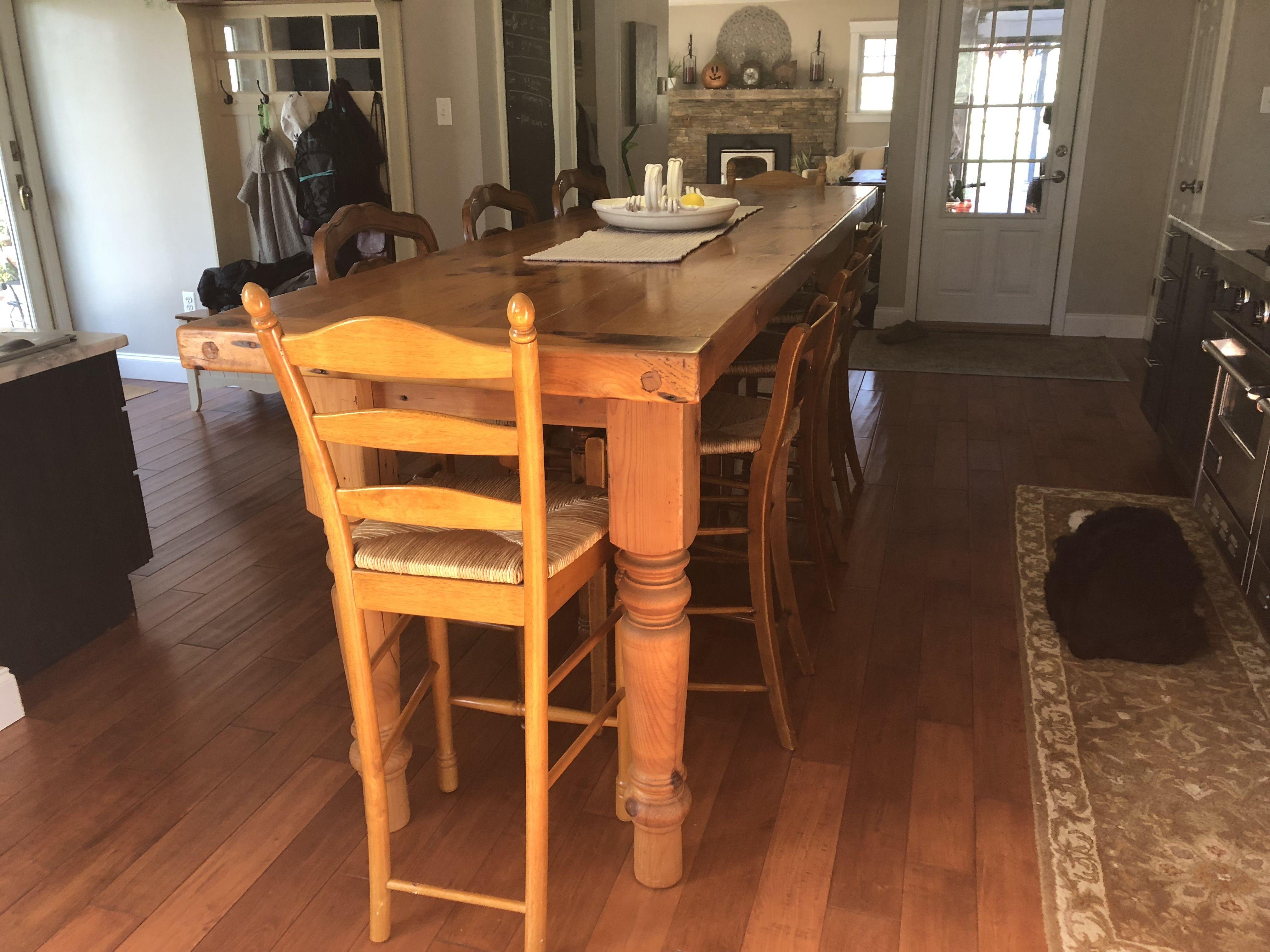 CounterHeight Farmhouse Table Reclaimed barn wood