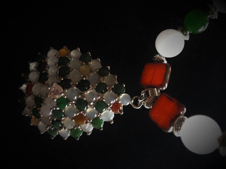Handmade 12MM Natural Lavender Jade Round Gemstone Beads Necklace 18/'/' AAA