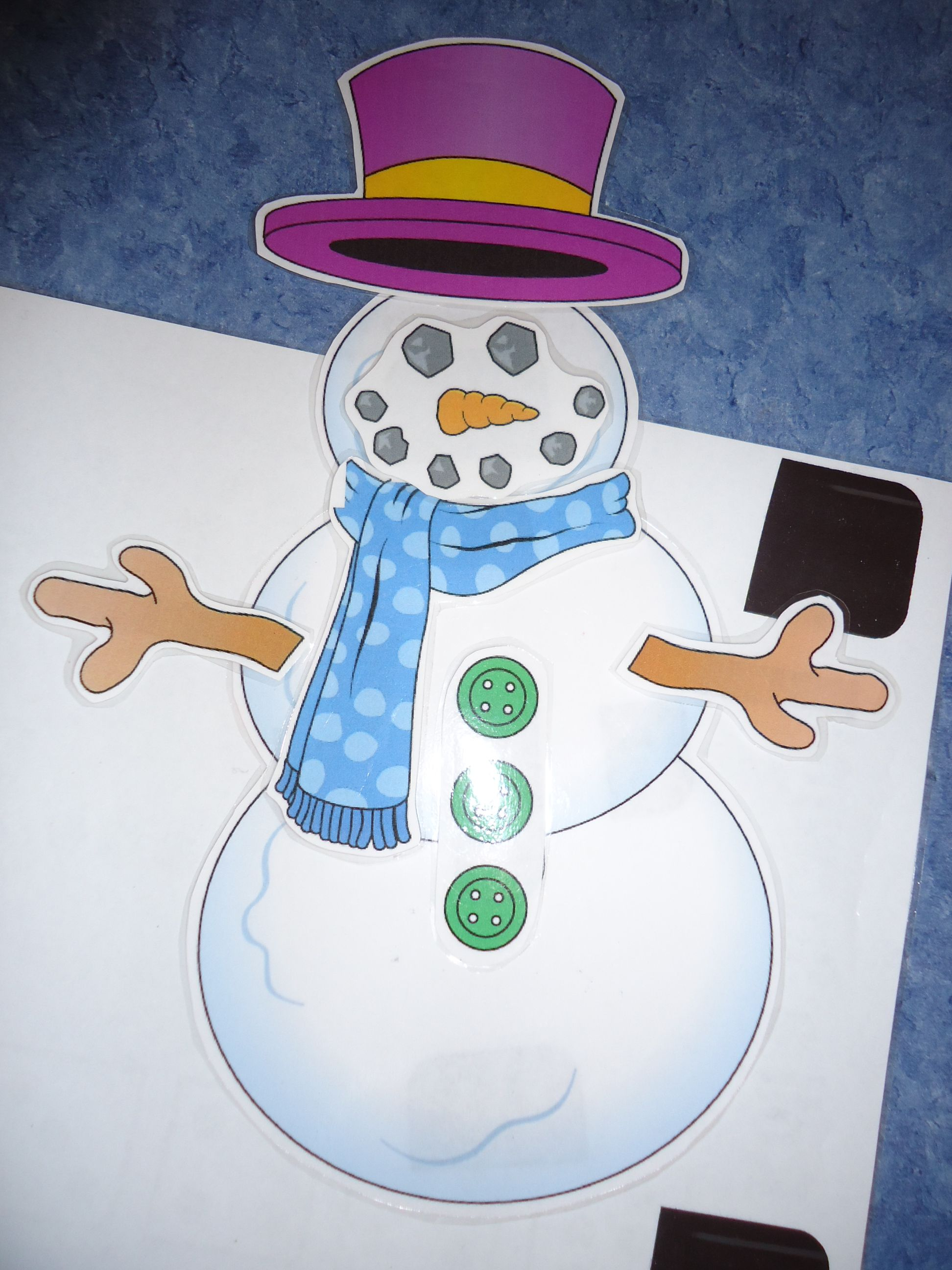 The Snowman Created By Playing The Roll The Dice Game