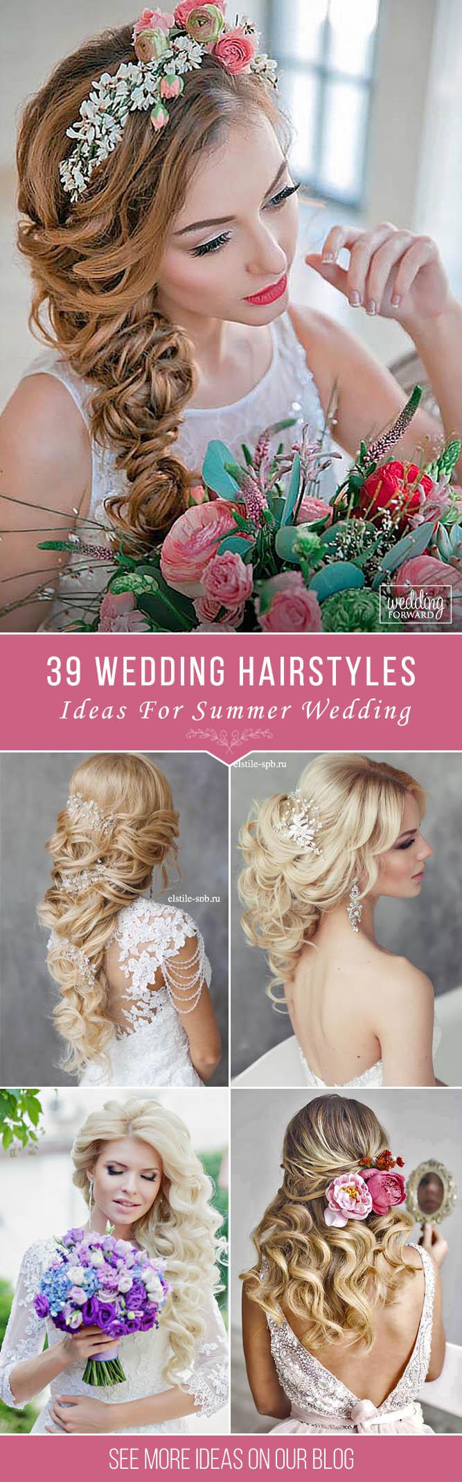 39 Stunning Summer Wedding Hairstyles | Summer wedding hairstyles ...