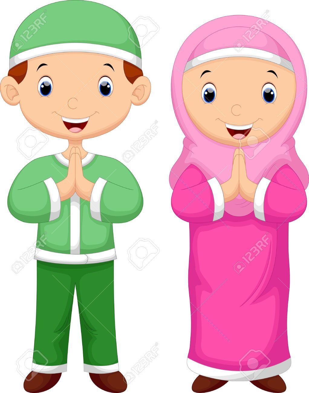 Gambar Kartun Anak Muslim Vector | Kartun, Gambar karakter ...