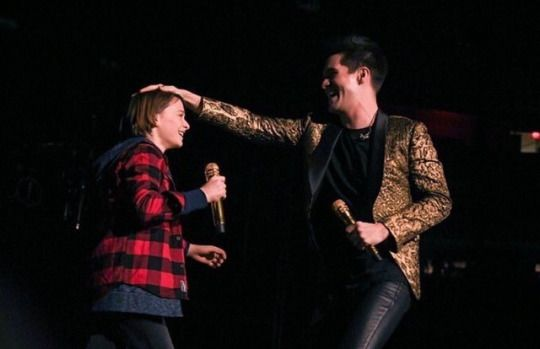 Noah Schnapp Of Stranger Things Performing With Brendon Urie Of Panic! At  The Disco At Madison Square Garden, In NYC. (3/2/17)
