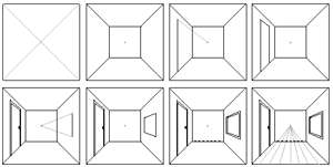 Image Result For Step By Step How To Draw One Point Perspective One Point Perspective Perspective Drawing One Point Perspective Room
