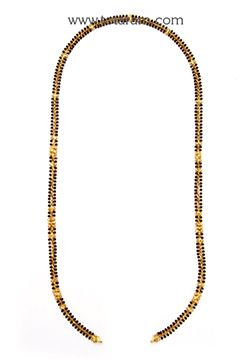 Mangalsutra Chain in 22K Gold of Length 27.0 inches - BBC954 - Indian Jewelry from Totaram Jewelers