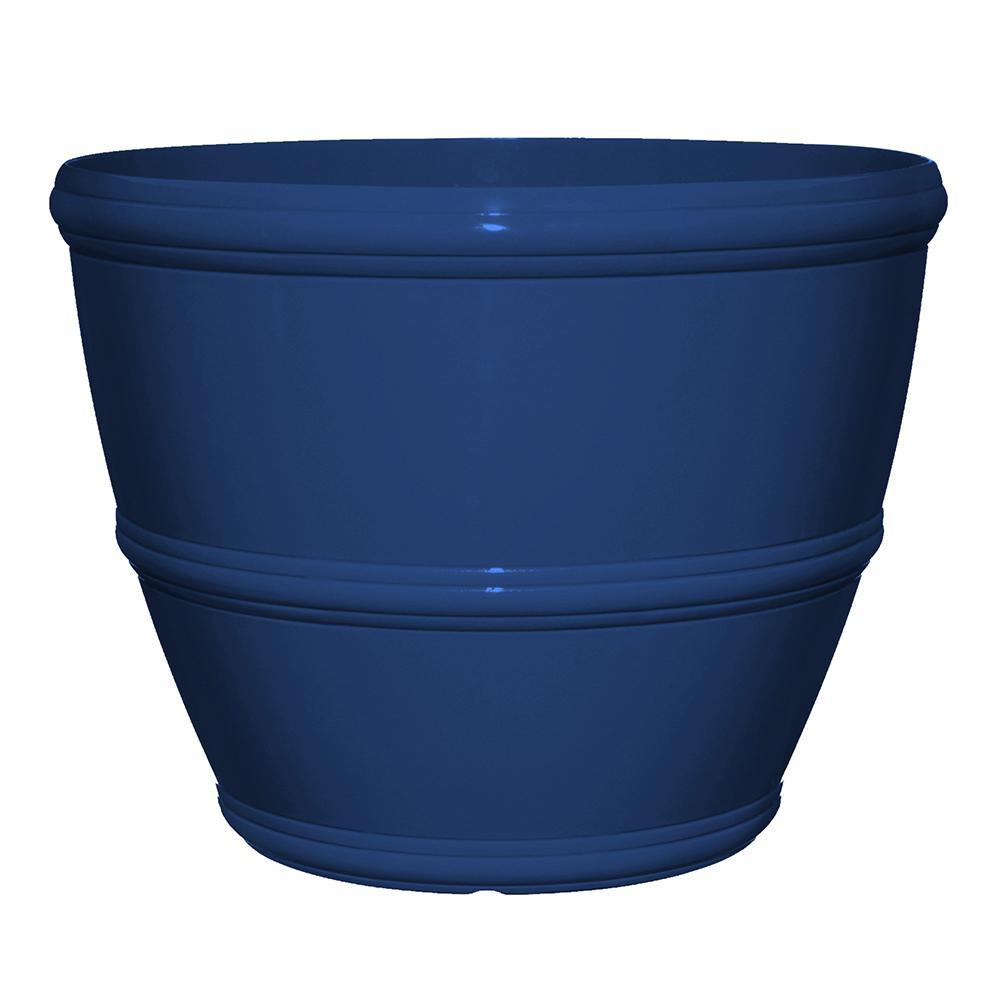 Null Alton 20 In Mariner Blue Resin Planter Resin Planters Planters Planting Flowers