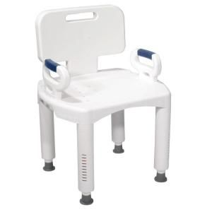 Drive Bath Bench With Back And Arms Rtl12505 The Home Depot Bath Bench Bench With Back Shower Chairs For Elderly