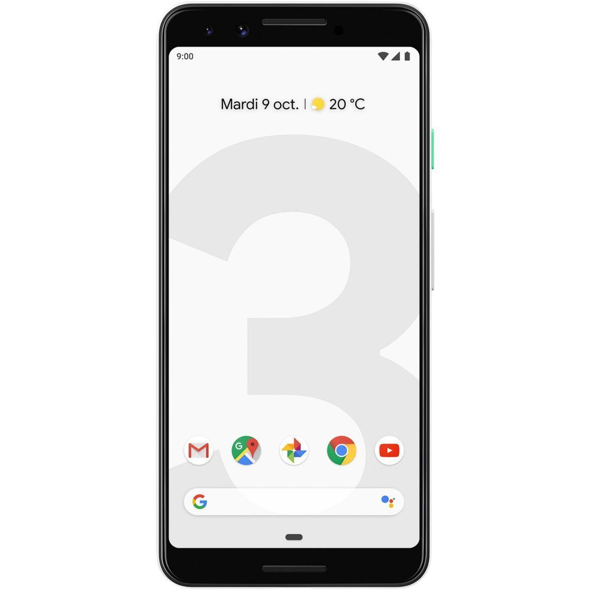 Smartphone Pixel 3 128go Résolument Blanc Taille Taille