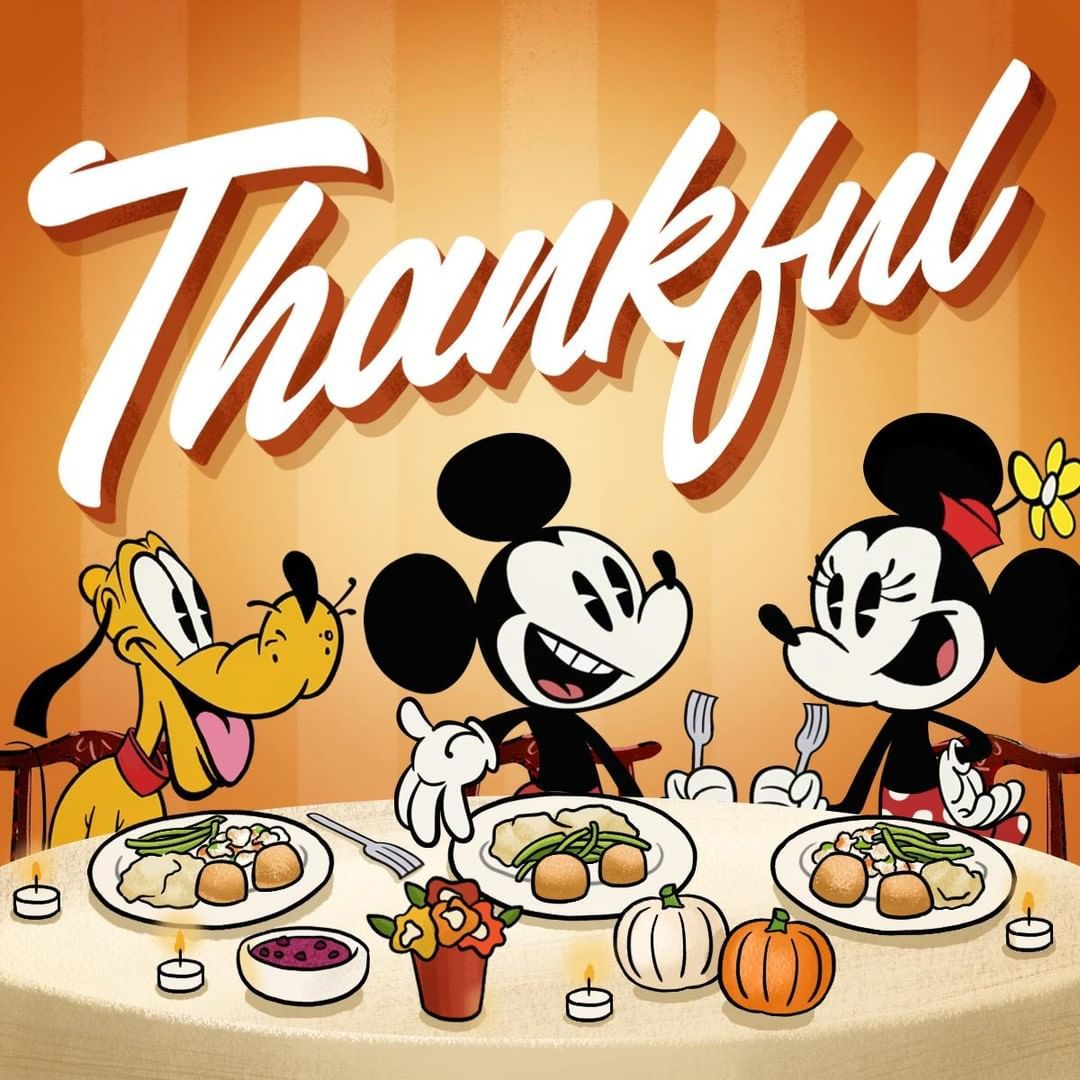 Mickey Mouse On Instagram Food Fun And His Special Someones What Are You Thankful For Thanksg Mickey Mickey Mouse Wallpaper Thanksgiving Wallpaper