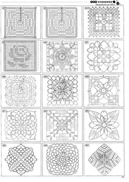 crochet motives diagrams | Häkeln/ Stricken | Pinterest | gehäkelte ...