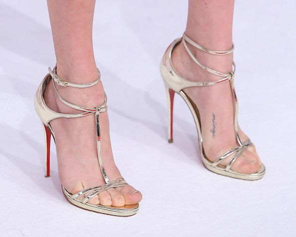 Amanda Seyfried, shoe detail, attends the 2015 CFDA Awards at Alice Tully Hall at Lincoln Center on June 1, 2015 in New York City.
