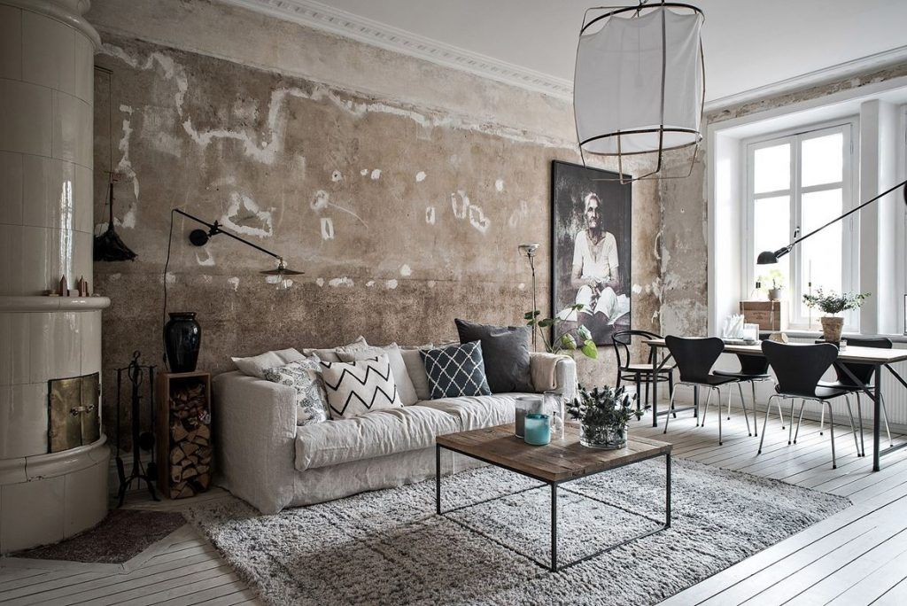 Scandinavian Apartment With Raw Concrete Walls (Gravity Home