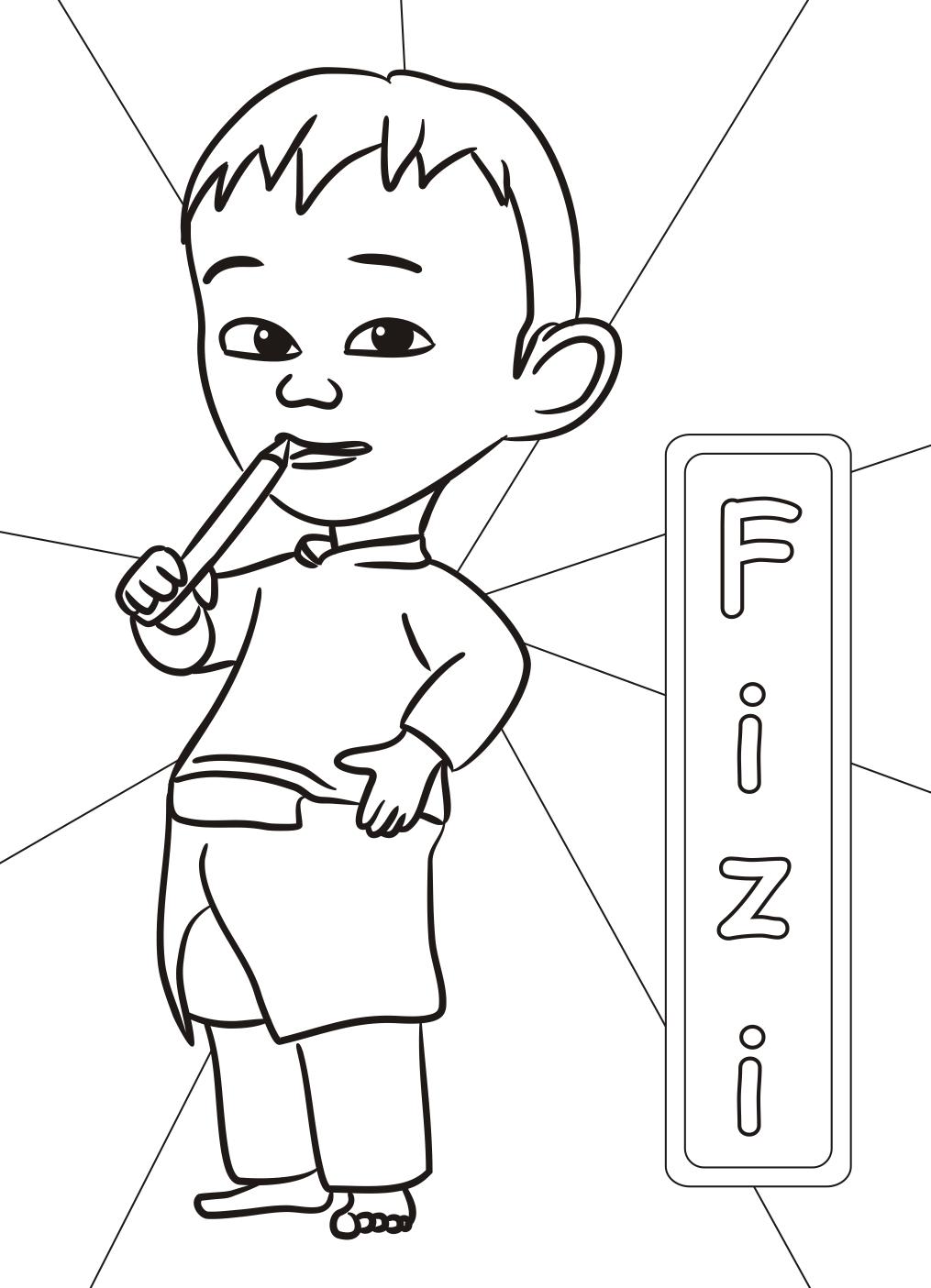 Gambar Mewarnai Upin Dan Ipin : gambar, mewarnai, Coloring, Pages, (Complete), Books,, Pages,