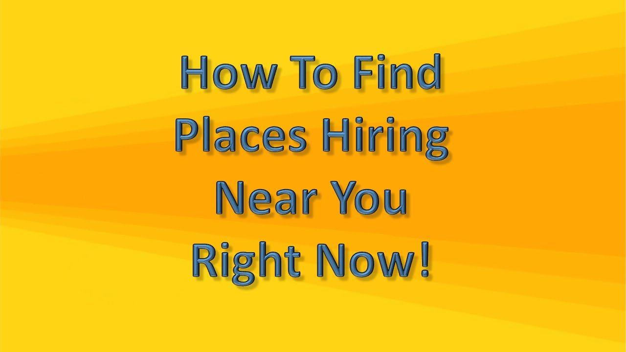 job near hiring places tips