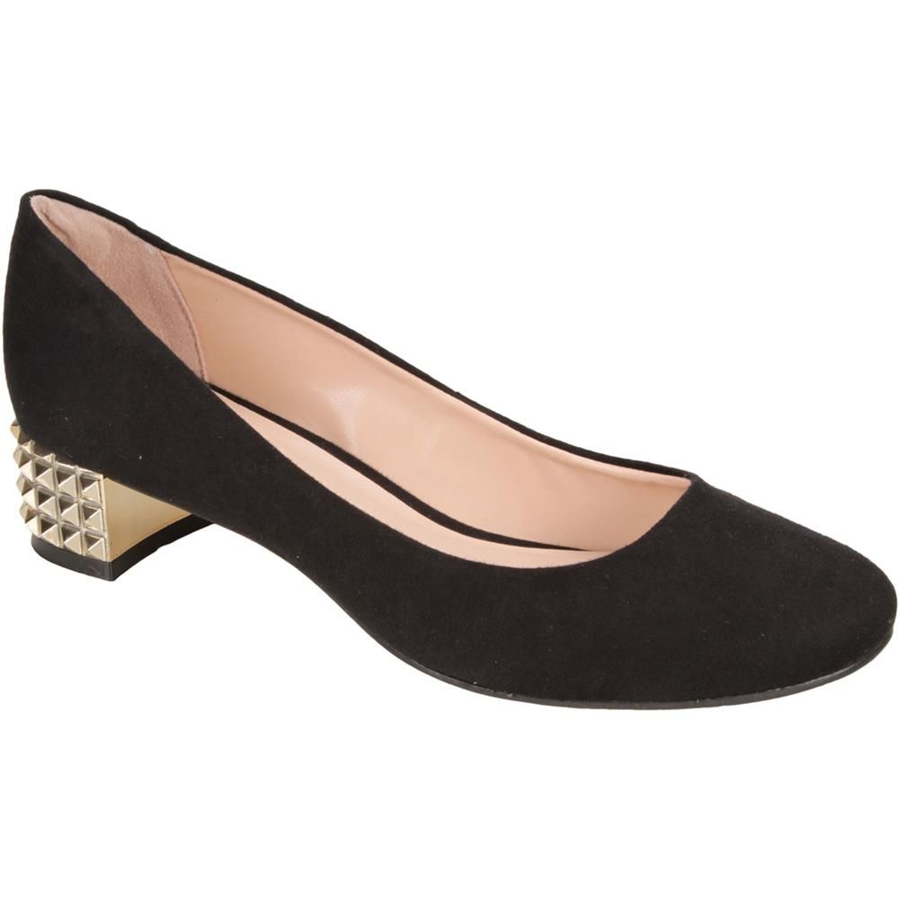 49e1a56373c Scarpin Twin-Set Preto e Dourado  Shoes  Golden