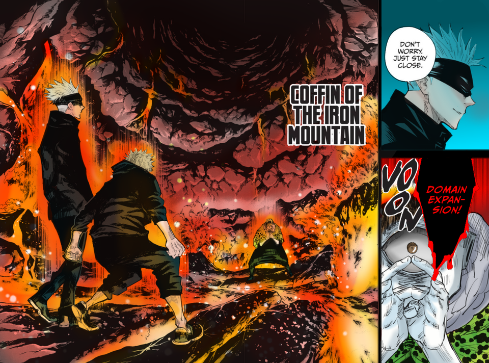 I Coloured Jogo Flexing His Domain Expansion On Gojo But Will It Work Probably Not Because Its Gojo Chapter 15 Jujutsukaise Art Pages The Expanse Anime