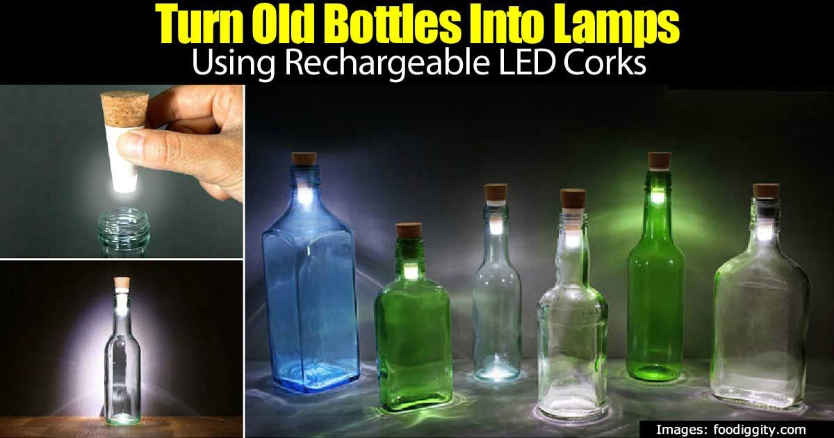 Turn Old Bottles into Lamps with Cool