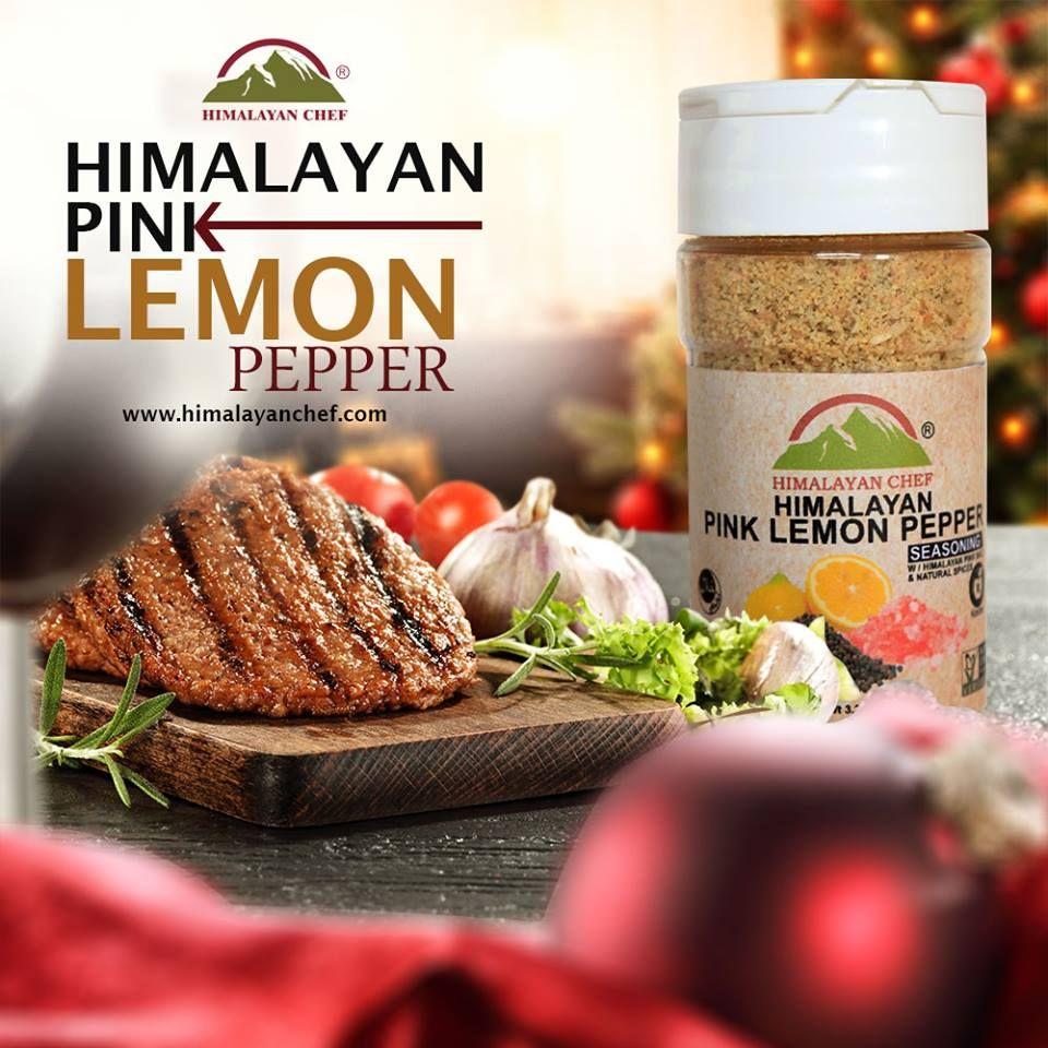 Himalayan chef 5335 himalayan pink salt lemon pepper