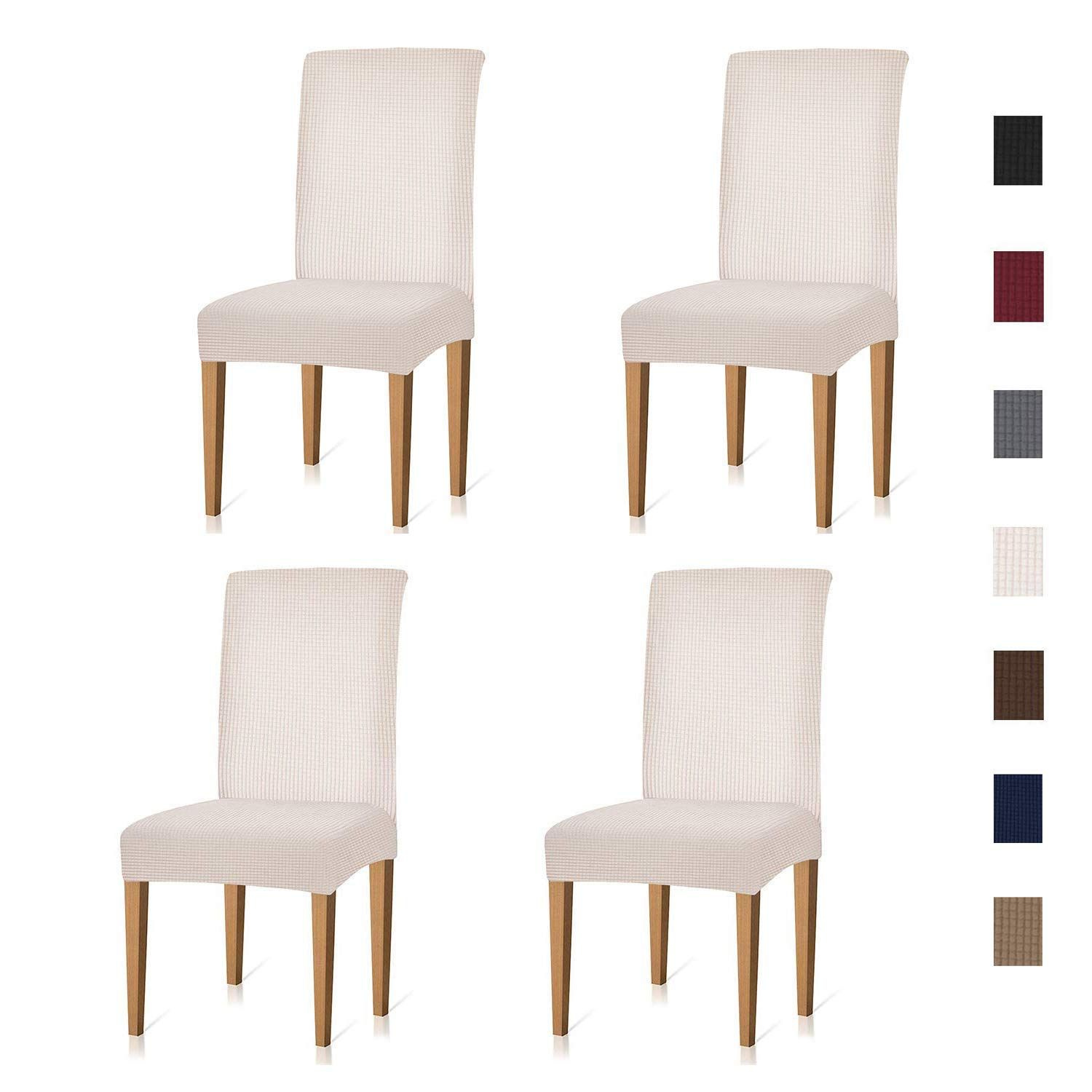 Xflyee Stretch Dining Room Chair Covers Jacquard Removable ...
