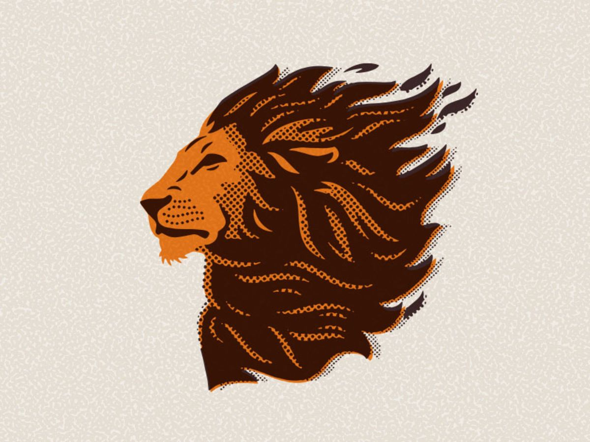 how to make lion logo