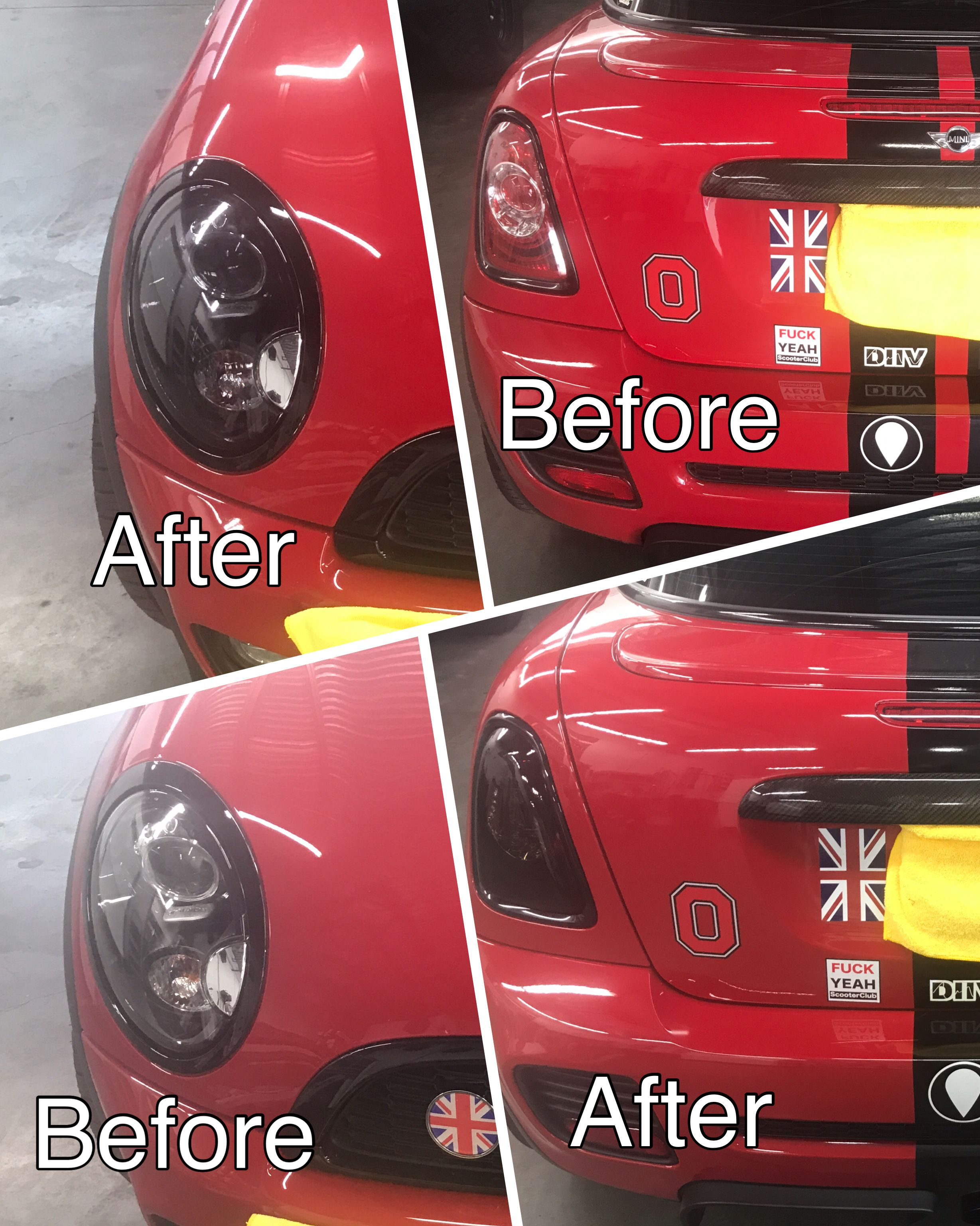 Mini Cooper smoked lamps Tail light tinting Seattle