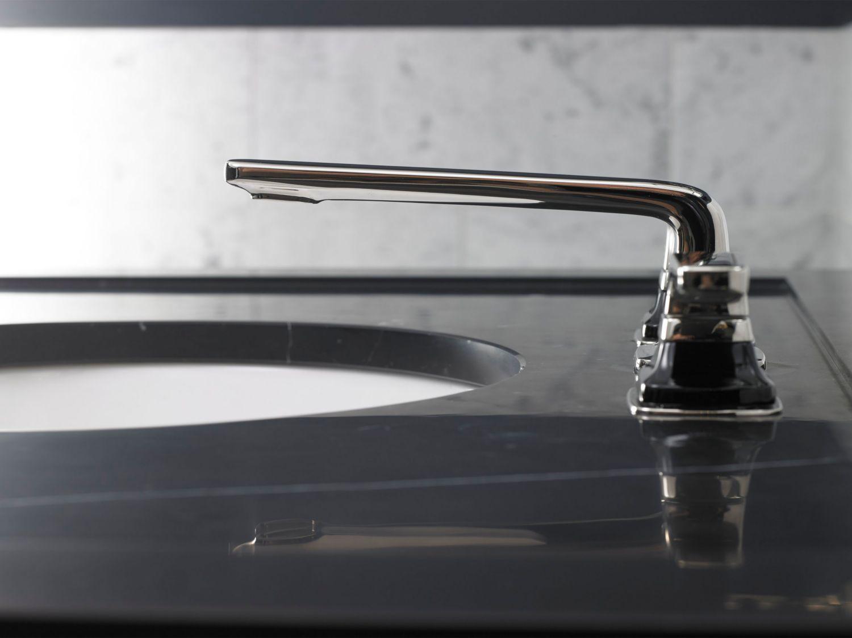 Per Se™ Sink Faucet, black Crystal Lever Handles   Bathroom Fixtures ...