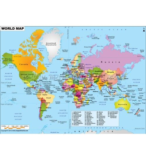 Buy political map of the world world digital maps digital world map colorful world map in digital format showing countries their capitals and international gumiabroncs Choice Image