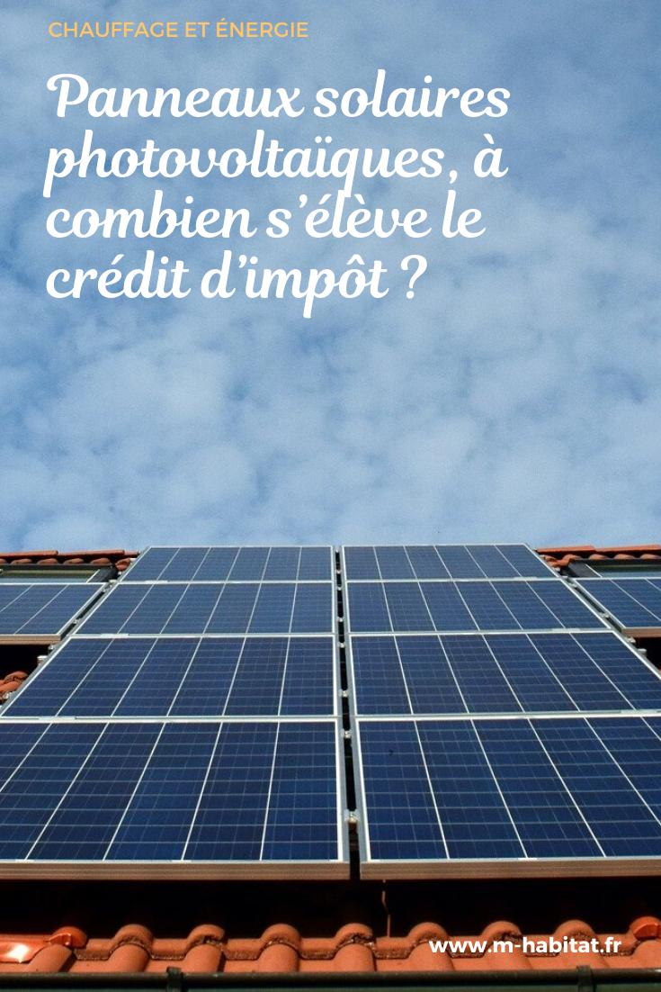Panneaux Solaires Photovoltaiques A Combien S Eleve Le Credit D Impot En 2020 Panneau Solaire Panneaux Solaires Photovoltaiques Panneau Photovoltaique
