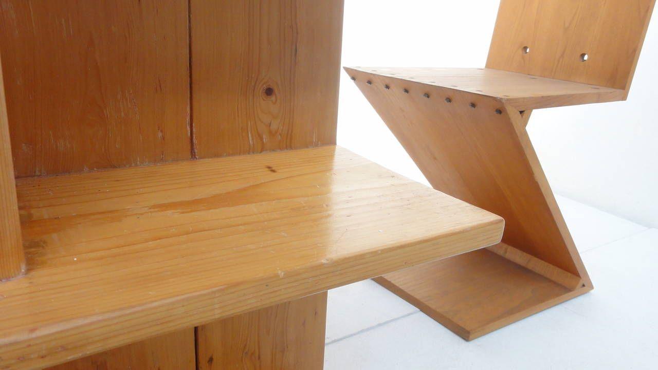 Gerrit Rietveld Kratstoel : Gerrit rietveld crate desk and zig zag chair metz and co s