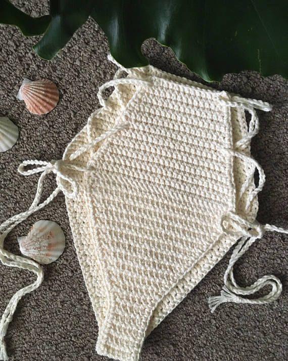 1976743f5969 LOLA high waisted crochet bikini bottoms cheeky festival style -100 ...