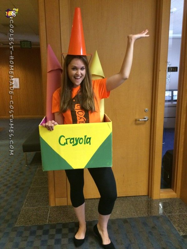 Out of the Box Costume Idea The Brightest Crayon in the Box!  sc 1 st  Pinterest & Cool Out of the Box Homemade Crayon Costume Idea | Crayons Costumes ...