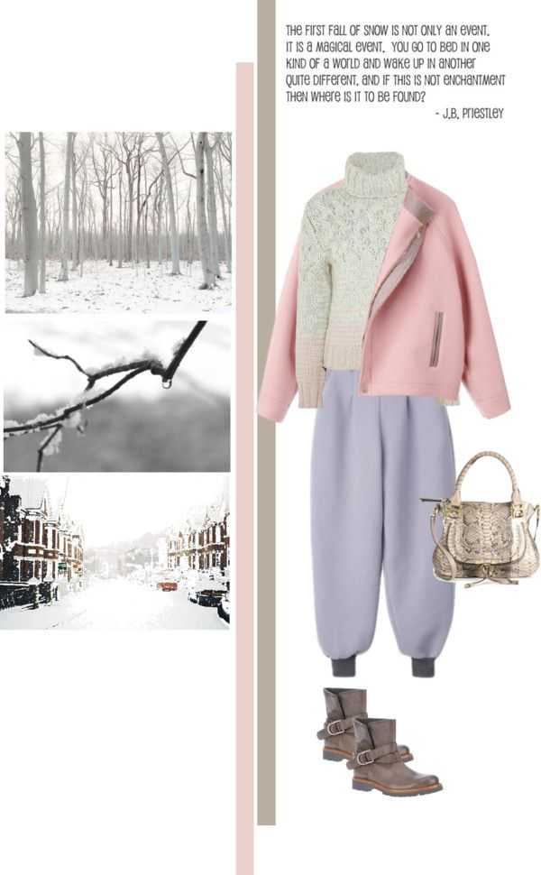 """Dressed for the first snow"" by mrs-box ❤ liked on Polyvore"