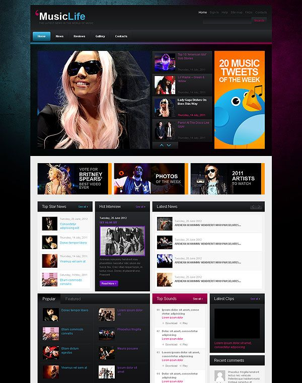 Music News Wordpress Template | Have you already estimated this ...